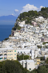 Capri town on Capri Island, Bay of Naples, Campania, Italy, Europe