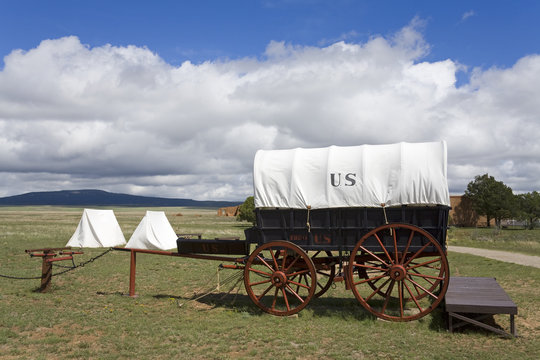 Wagon in Fort Union National Monument, Las Vegas, New Mexico