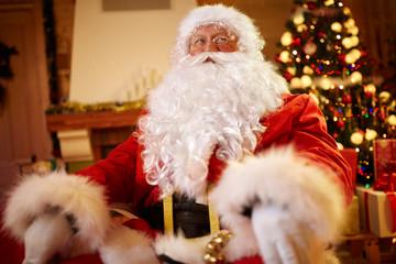 Portrait Santa Claus on xmas- Christmas time.