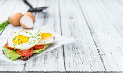 Fried Eggs on a Sandwich