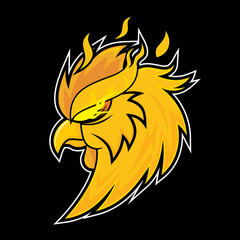 Fire Rooster Vector Logo