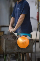 Traditional glassmaking, Murano, Venice, Veneto, Italy, Europe
