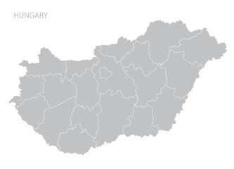 Map of Hungary.