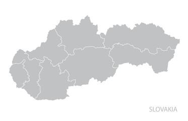 Map of Slovakia.