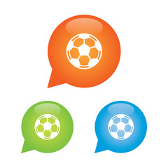 Football or Soccer Ball Marker Icon