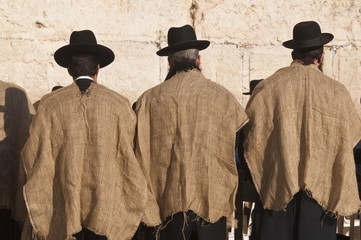 Worshippers at the Western Wall, Jerusalem, Israel, Middle East