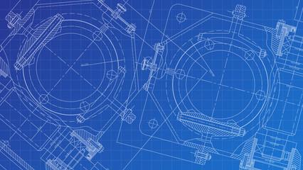 Mechanical Engineering drawing. Engineering Drawing Background.