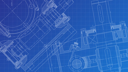 Mechanical Engineering drawing. Engineering Drawing Background.