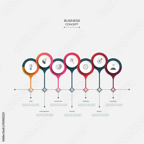Vector infographic timeline template with 3d paper label integrated vector infographic timeline template with 3d paper label integrated circles business concept with options accmission
