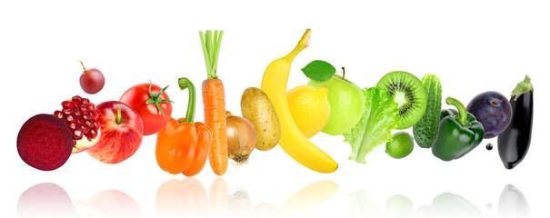 Keuken foto achterwand Verse groenten Fruits and vegetables
