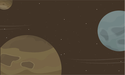 Space planet cartoon collection stock
