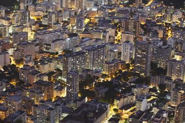 Buildings of Botafogo at night, Rio de Janeiro, Brazil, South America