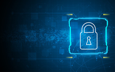 abstract data security concept tech innovation design background