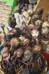 Dried llama foetuses in Witches' Market, La Paz, Bolivia