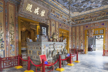 Interior of Tomb of Khai Dinh, UNESCO World Heritage Site, Hue, Thua Thien-Hue, Vietnam, Indochina, Southeast Asia, Asia