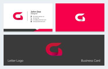 G Alphabet Letter Creative Polygonal Abstract vector logo