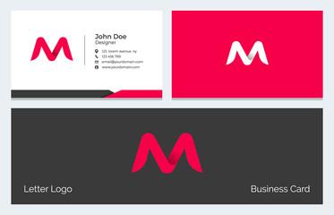 M Alphabet Letter Creative Polygonal Abstract vector logo