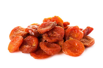 A heap of dried apricots