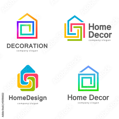 Vector Logo Design Home Decor Decoration Stock Image And Royalty