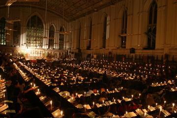 Christmas celebration in Calcutta Cathedral, Kolkata, West Bengal, India, Asia
