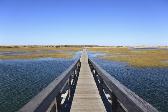 Boardwalk, Salt Marsh, Sandwich, Cape Cod, Massachusetts, New England