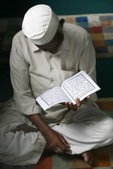 Koran reading, Kathmandu, Nepal, Asia