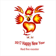 Red fire rooster