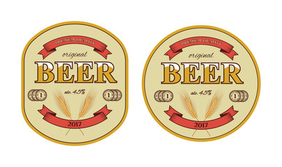 Vector beer label and beer mat template.