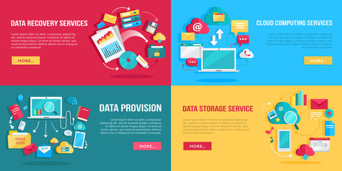 Data Services Banners Set
