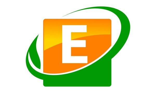 Swoosh Leaf Letter E