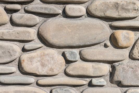 closeup of wall with stone veneer