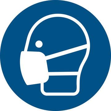 ISO 7010 M016 Wear a mask