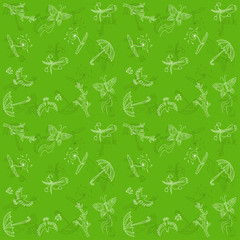 Season vector pattern. Spring