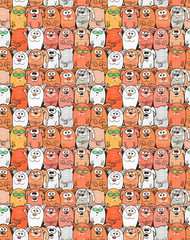 Puppies and kittens cartoon vector background