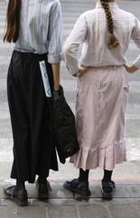 Orthodox Jewish girls in Bnei Brak, Israel, Middle East