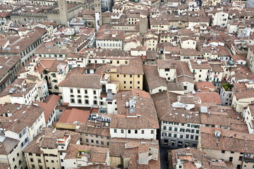 View of Florence from the Dome of Filippo Brunelleschi, Florence, Tuscany, Italy, Europe