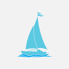 icon sailing, swimming, vacation, Journey, vector image