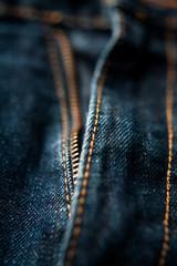 Dark jeans close up zipper macro denim