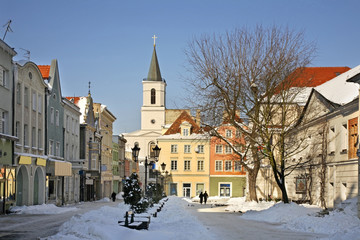 Old market square in Zielona Gora. Poland