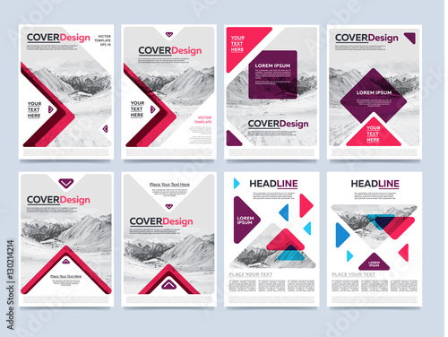 cover design for annual report or brochure booklet or flyer