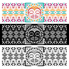 Maori seamless pattern background for business