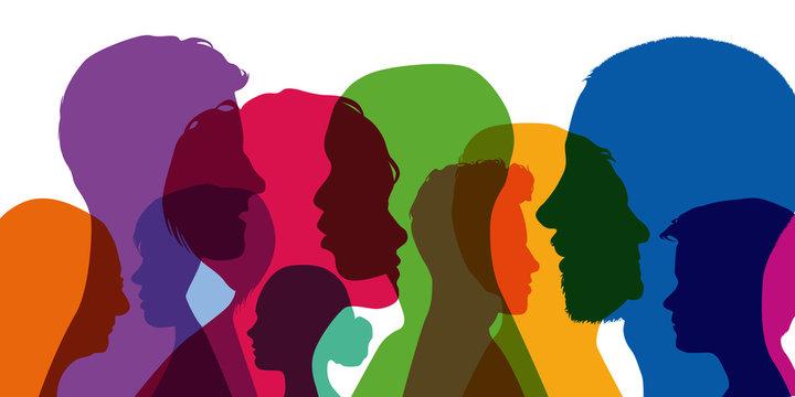 Silhouettes - Tête - Profils - Entreprise - Population