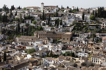Albaicin seen from Alhambra, Granada, Andalucia, Spain, Europe