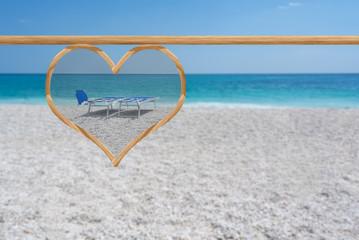 love concept in a beautiful beach