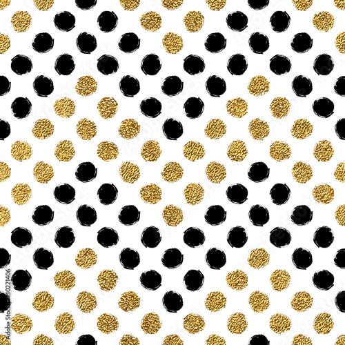 Seamless pattern of gold glitter and black chevron of circle hand seamless pattern of gold glitter and black chevron of circle hand drawn background of golden stopboris Choice Image