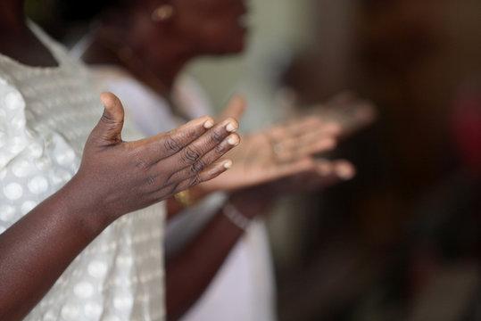 Mass in Cathedral Notre-Dame de la Misericorde, Cotonou, Benin, West Africa