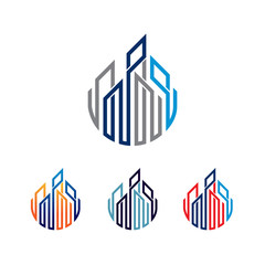 Business Financial Architecture Construction Symbol Illustration