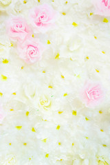 Texture Artificial Flowers on the scene , background vintage