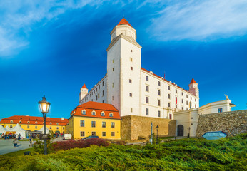 Wall Mural - Medieval castle on the hill in Bratislava, Slovakia