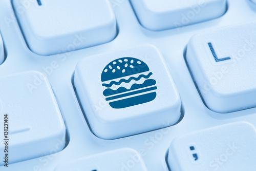 computer hamburger cheeseburger fast food essen online bestellen stockfotos und lizenzfreie. Black Bedroom Furniture Sets. Home Design Ideas
